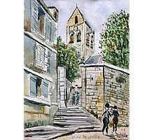 Study of a Maurice Utrillo painting. Photographic Print