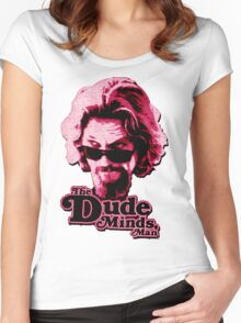 Big Lebowski Pink Women's Fitted Scoop T-Shirt