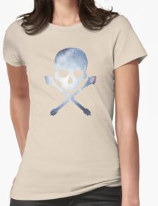 Galaxy Skull Womens Fitted T-Shirt