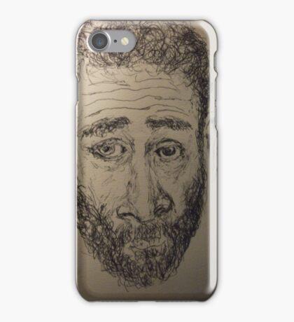 Self-portrait -(190515)- Black biro pen/A5 sketchbook iPhone Case/Skin