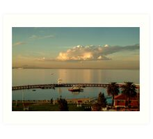 Sundown Eastern Beach,Geelong Art Print