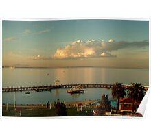 Sundown Eastern Beach,Geelong Poster