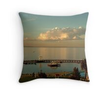Sundown Eastern Beach,Geelong Throw Pillow