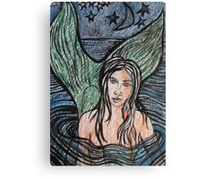 Mermaid Drawing #4 Canvas Print