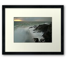 Storm,Cape Bridgewater Framed Print