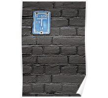 Blue on black Poster