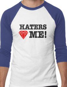 Haters love me Men's Baseball ¾ T-Shirt