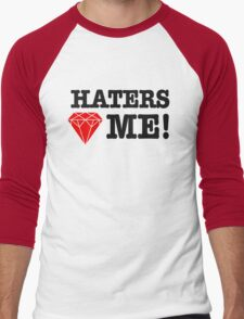 Haters love me Men's Baseball ¾ T-Shirt