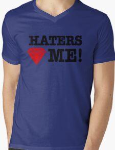 Haters love me Mens V-Neck T-Shirt