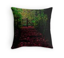 the path out Throw Pillow