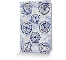 Gallifreyan Mix 3 Greeting Card