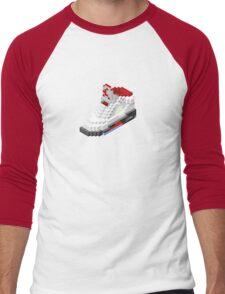 Air jordan V cube pixel Men's Baseball ¾ T-Shirt