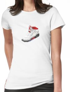 Air jordan V cube pixel Womens Fitted T-Shirt