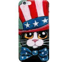 Patriotic Tuxedo Cat (USA) iPhone Case/Skin