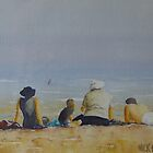 Family on the beach by Mick Kupresanin