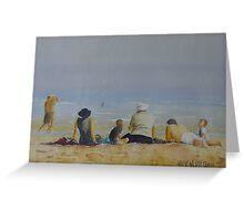 Family on the beach Greeting Card