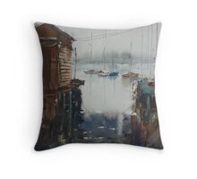 Swan Bay Enterence, Queenscliff, Victoria Throw Pillow