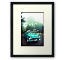 taxi in the fog Framed Print