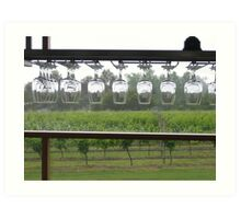 Winery Glass Lineup Art Print