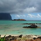 Lord Howe Island with low cloud by Mick Kupresanin