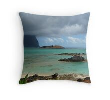 Lord Howe Island with low cloud Throw Pillow