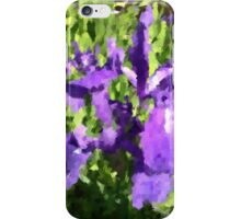 purple iris at a pond iPhone Case/Skin