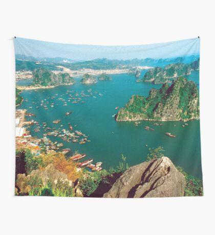 an inspiring Vietnam landscape Wall Tapestry