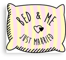 Bed & Me, Just Married Canvas Print