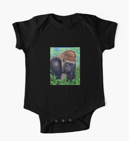 Western Lowland Gorilla (Gorilla gorilla gorilla) One Piece - Short Sleeve