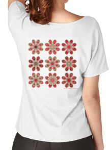 Bouquet of Roses Foot Flowers Women's Relaxed Fit T-Shirt