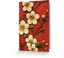 Chinese Blossom Greeting Card