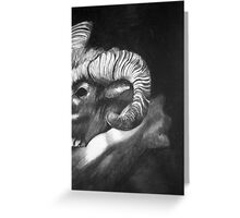 Rams Horn Greeting Card