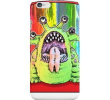Angry Rainbow Alien iPhone Case/Skin