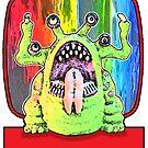 Angry Rainbow Alien by JoelCortez