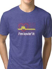 I'm lovin' that heart attack! Tri-blend T-Shirt