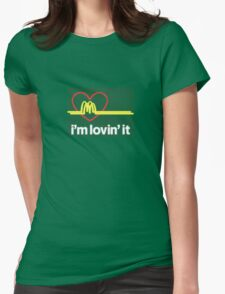 I'm lovin' that heart attack! Womens Fitted T-Shirt
