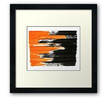 black and orange 01 Framed Print