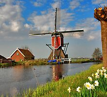 Dutch Mill in Oud Ade by Adri  Padmos