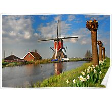 Dutch Mill in Oud Ade Poster