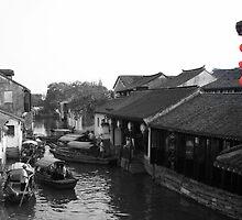 Red lantern alert: river traffic jam! by Christine Oakley