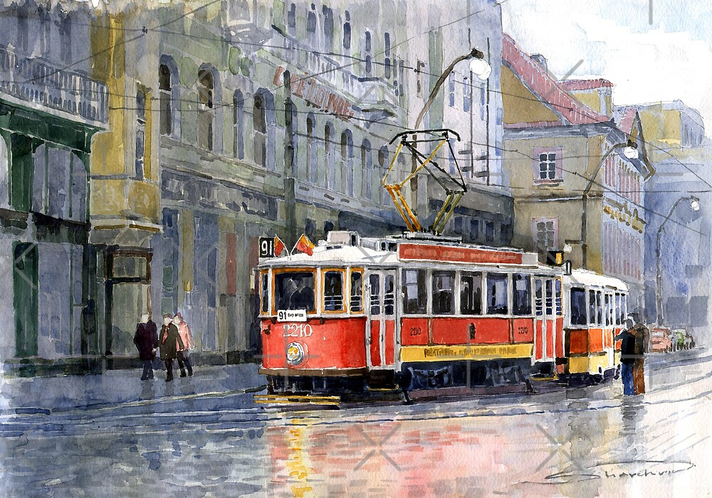 Prague Historical Tram by Yuriy Shevchuk