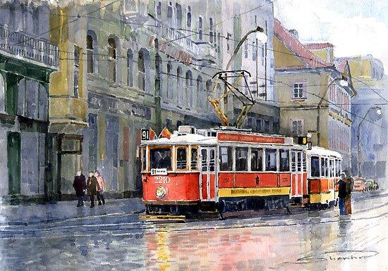 Prague Historical Tram by Yuriy Shevchuk
