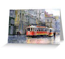 Prague Historical Tram Greeting Card