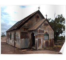 Old movie set - Church - Lightning Ridge - Australia Poster