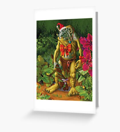 Shapeless the Forest Troll loves Christmas Greeting Card