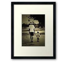 Daddy's Boy Framed Print