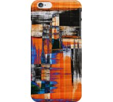 black blue and orange iPhone Case/Skin