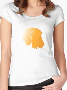 leo star sign Women's Fitted Scoop T-Shirt