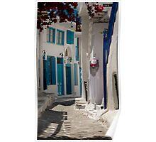 Mykonos Alley Way Poster