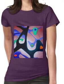Bush Dance B1 Womens Fitted T-Shirt